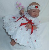 Strawberry Dress + Headband Will Fit 0-3 Months Baby