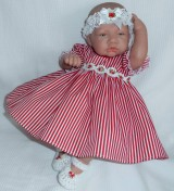 Red Striped Dress + Head band